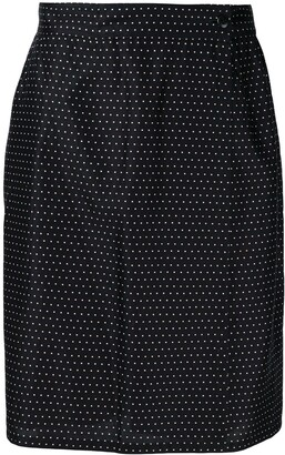 Versace Pre-Owned High Rise Dotted Skirt