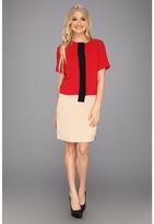 Calvin Klein Color Block Dress CD3E1F90 (Black Multi) - Apparel