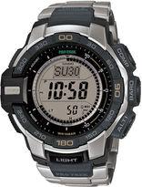 Casio ProTrek Mens Stainless Steel Strap Solar Chronograph Watch PRG270D-7CR