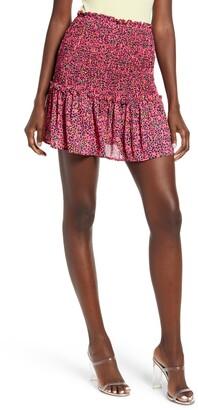 GOOD LUCK GEM Smocked Miniskirt