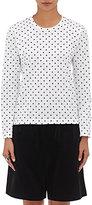 Comme des Garcons Women's Polka Dot Long-Sleeve T-Shirt-WHITE