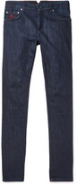 Isaia Slim-fit Selvedge Stretch-denim Jeans
