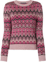 Alberta Ferretti crew neck knitted sweater - women - Polyamide/Polyester/Spandex/Elastane/Virgin Wool - 40