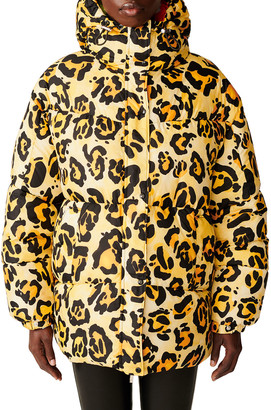 MONCLER GENIUS Richard Quinn Hooded Leopard Jacket