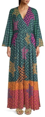 Ted Baker Printed Kaftan Maxi Dress