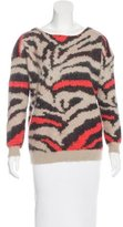 Maje Long Sleeve Print Sweater