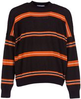 Ami Alexandre Mattiussi Striped Boxy Sweater From