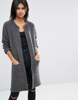 Asos Coatigan In Boucle