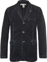 Comme Des Garçons Shirt - Blue Contrast-stitched Cotton-corduroy And Twill Blazer