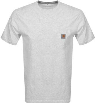 Carhartt Pocket Short Sleeved T Shirt Grey