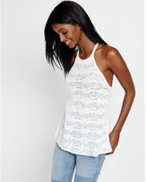 Express halter neck crochet tank