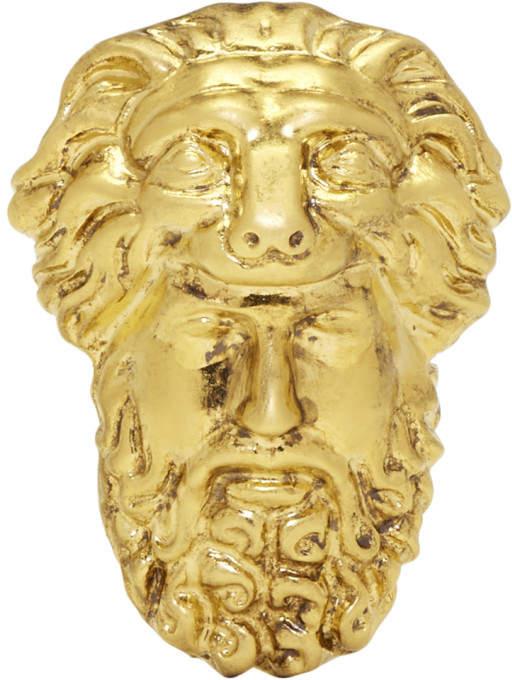 Gucci Gold Hercules Mask Ring