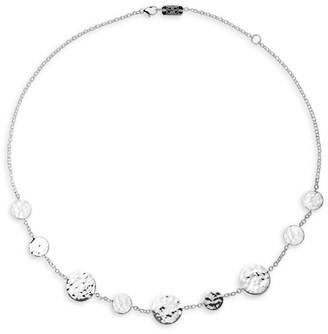 Ippolita Classico Sterling Silver Crinkle Circle Station Necklace