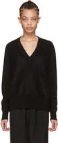 Givenchy Black Mohair V-neck Sweater