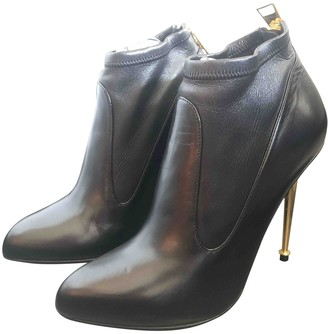 Tom Ford Black Leather Ankle boots