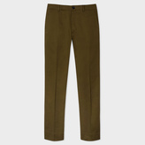 Paul Smith Men's Slim-Fit Khaki Stretch-Cotton Chinos