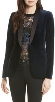 Alice + Olivia Women's Macey Velvet Tuxedo Jacket