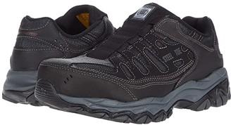Skechers Cankton - Ebbitt Steel Toe (Black) Men's Shoes
