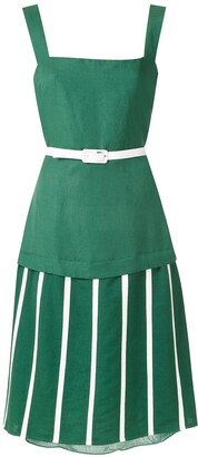 Adriana Degreas midi Wimbledon dress