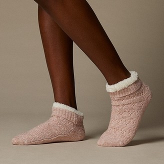 Indigo Low-Rise Pointelle Reading Socks Pink