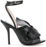 No.21 oversized bow stiletto sandals - women - Calf Leather/Goat Skin - 36.5