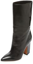 Valentino Garavani Pointed-Toe Leather Boot