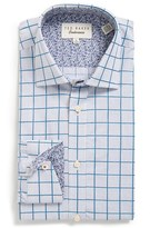 Ted Baker Men's 'Redsing' Trim Fit Check Dress Shirt