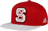 adidas North Carolina State Wolfpack Flat Brim Snapback Cap