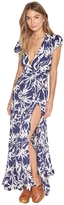 Amuse Society Provence Leaf Print Maxi Dress