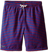 Toobydoo Red/Royal Blue Swim Shorts w/ White Lace Drawstring (Infant/Toddler/Little Kids/Big Kids)