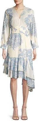 Robert Rodriguez Paisley Floral Cotton Dress