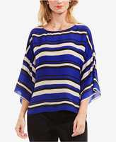 Vince Camuto Striped Poncho Top