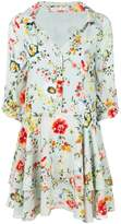 Alice + Olivia Alice+Olivia floral-print mini shirt dress