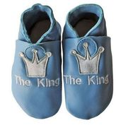 "Silly Souls The King"" Blue Leather Shoes"