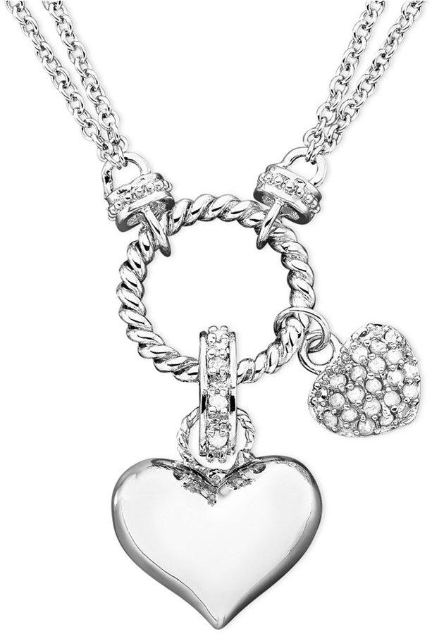 Townsend Victoria Diamond Heart Pendant Necklace in Sterling Silver (1/4 ct. t.w.)