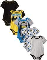 Warner Brothers Baby Baby-Boys Newborn Boy Batman 5 Pack Creeper
