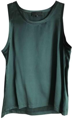 Nili Lotan Green Silk Top for Women