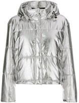 MSGM Women's Silver Polyester Down Jacket.