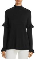 Heather B Ruffle-Sleeve Sweater