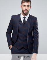 Heart & Dagger Super Skinny Suit Jacket In Tartan