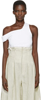 Jacquemus White 'Le Marcel Qui Tombe' Tank Top