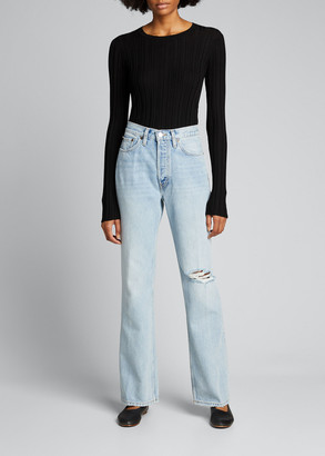 RE/DONE 70s Distressed Boot-Cut Jeans