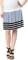 A Pea in the Pod Maternity Striped A-Line Skirt
