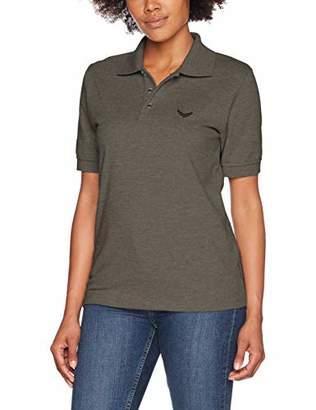Trigema Women's Regular Fit Short Sleeve Polo Shirt,Large (Manufacturer Size: Large)
