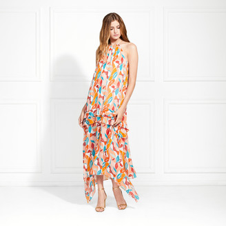 Rachel Zoe Bellarosa Swirl Printed Maxi Dress