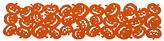John Lewis Halloween Pumpkin Table Runner, Orange, L136cm