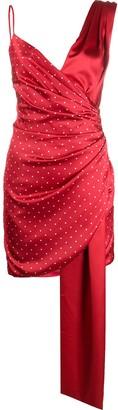 Misha Collection Polka Dot Print Wrap Dress