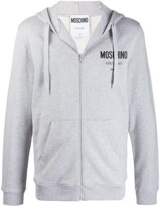 Moschino Logo Zip-Up Hoodie