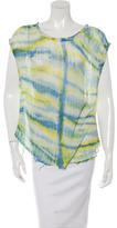 Raquel Allegra Distressed Tie-Dye T-Shirt