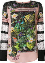 Piccione Piccione Piccione.Piccione floral embroidered blouse